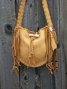 Handmade leather  handbag  Buckskin leather tote by thunderrose, $159.00