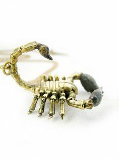 Scorpio the Scorpion Pendant in Brass | Guruwan.com