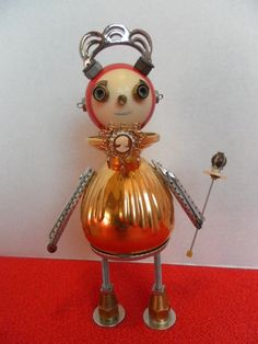 Queen Camille - found object robot sculpture assemblage. $100.00, via Etsy.