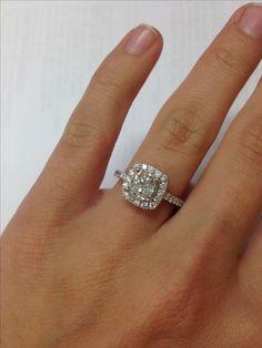 Cushion cut engagement ring!