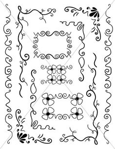 Vector Corbels Ornamental Lines Fancy Borders SVG by TuiTrading