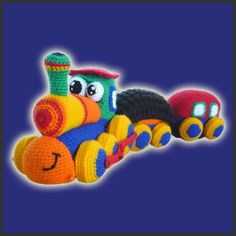 Amigurumi #Crochet Pattern - Happy Train. $6.20, via Etsy.