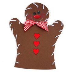 Gingerbread Man Lacing Puppet
