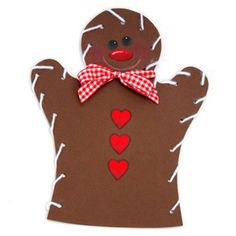 Gingerbread Man Lacing Puppet