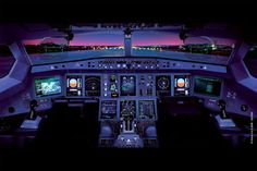 Gorgeous flightdeck!  It's the new Boeing 787 Dreamliner!