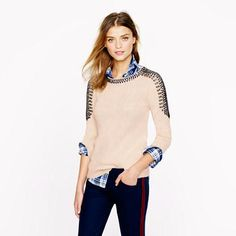 Collection cashmere jeweled-shoulder sweater from J.Crew #poachit