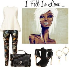 """I Fell In Love ... When Art and Fashion Collide"" by latoyacl ❤ liked on Polyvore"