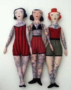 ♥ Mimi Kirchner tattooed dolls.