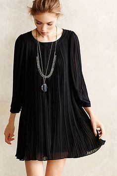 Pleated Millie Swing Dress - anthropologie