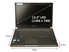 Toshiba Satellite R830-1GZ 13.3 inch Laptop (Intel Core i5-2450M 2.5/3.1GHz