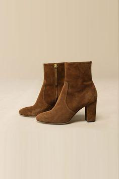 Rouje Boots BRIGITTE en daim marron