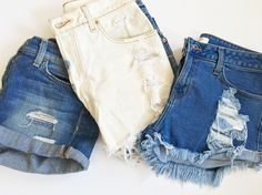 Went ham on some jean shorties today! Sometimes a gal just needs some new denim to brighten her Monday blues.