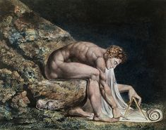 Isaac Newton by English artist William Blake and housed in the Tate Gallery, London. Isaac Newton, Willem De Kooning, William Blake Paintings, Art Romantique, Anselm Kiefer, Arte Tribal, English Poets, Tate Britain, Tate Gallery