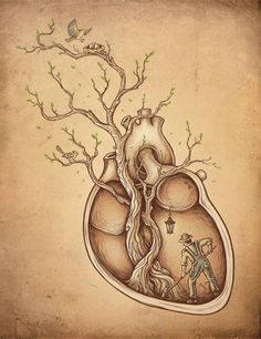 wood heart  -  Guard your heart for it is the wellspring of life.
