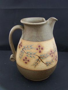 nicely decorated pitcher