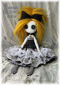Custom Gothic Lolita Doll with Button Eyes