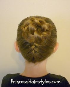 upside down french braid updo for MaKenna!