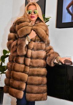 Natural Russian Sable Fur Coat Barguzin Li Jacket Chinchilla Royal Mink Lynx Fox | eBay