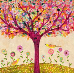 Sunny Tree Art Print - Large Art Print - Tree Art - Tree Painting - Tree Wall Art - Home Decor - Large Tree Painting - Large Painting Tree Wall Art, Tree Art, Grand Art, Large Art Prints, Paper Tree, Sparkle, Landscape Prints, Wooden Art, Large Painting