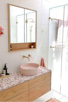 Bathroom ideas / bathroom tiles / bathroom decor / bathroom design / Concrete Nation / Concrete bathrooms / Concrete interiors / Industrial / Raw Natural Material / Interior Design / Interior Decorating / Interiors / Aesthetic / Gold Coast / Design / bathroom / Aesthetic / Architecturally Designed / Home Décor / Renovation / @concretenation Funky Bathroom, Laundry In Bathroom, Modern Bathroom Design, Bathroom Interior Design, Small Bathroom, Bathroom Toilets, Bathroom Renos, Bathroom Ideas, Concrete Bathroom