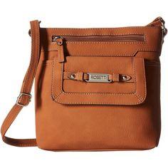Rosetti Dolores Mini Crossbody (Maple) Cross Body Handbags ($25) ❤ liked on Polyvore featuring bags, handbags, shoulder bags, tan, man bag, brown crossbody purse, brown purse, mini crossbody purse and shoulder handbags