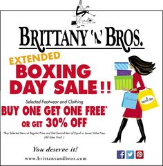 Check out Brittany N Bros Boxing Day sales! Extended all week at all locations: Lindsay, Cobourg, Port Perry & Lakefield! Open Lakefield, Cobourg, Port Perry Lindsay (Closed at Dec and Jan Re-open Jan regular hours. Boxing Day Sales, You Deserve It, Buy One Get One, Brittany, Events, Check, Bretagne