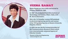 Veena Rawat - Electrical Engineer, Order of Canada - woman President of the CRC. Order Of Canada, Electrical Engineering, Science, Technology, Woman, Math, Beautiful, Tech, Engineering