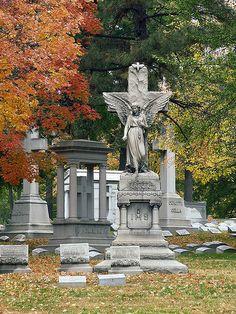 Calvary Cemetery, in Saint Louis, Missouri - angel monument.jpg