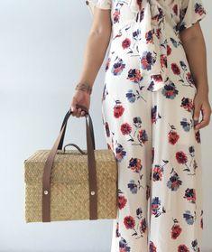 Basket bag / Picnic Bag / Straw Bag / Bridesmaids Totes /