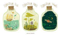 """semidarksorahana: """"TERRARIUM. by Megumi Inoue. http://sorahana.ciao.jp/ """""""