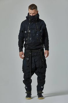 Sincere caused men's fashion black you could try these out Mode Cyberpunk, Cyberpunk Clothes, Cyberpunk Fashion, Urban Fashion, Mens Fashion, Fashion Outfits, Fashion Black, Apocalyptic Fashion, Tactical Clothing