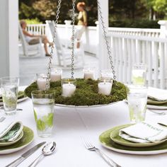 This alfresco chandelier is a breeze to make.