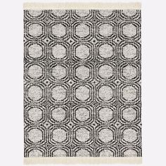 Concentric Circle Rug - Iron | West Elm