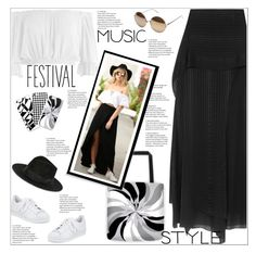 """""""Coachella Fashion"""" by atelier-briella ❤ liked on Polyvore featuring adidas, Michelle Mason, Sans Souci, Linda Farrow, Yves Saint Laurent, cute, chic, iPhonecases, festivalfashion and canvastotebag"""