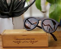 bbb11f5982ca5 The Retro - charcoal bamboo wood round sunglasses
