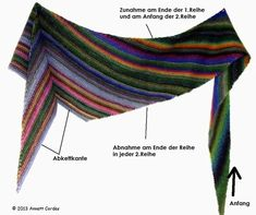 Knitting Pattern Linus – colorful wool – hand-dyed natural yarns and hand knitting … - Knitting and Crochet Baby Knitting Patterns, Knitting Designs, Hand Knitting, Crochet Patterns, Poncho Crochet, Knitted Shawls, Hand Crochet, Wave Pattern, Shawls And Wraps