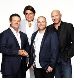 Gary Mehigan, Matt Preston, George Comombaris and Matt Moran. They're my favourite TV judges bar Mary Berry and Paul Hollywood