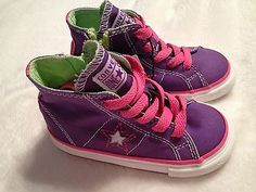 NWT Baby/Toddler Size 5 or 7 Purple & Pink Converse Tennis Shoes