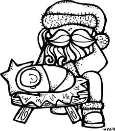 Baby Jesus Coloring Pictures MelonHeadz Santa And