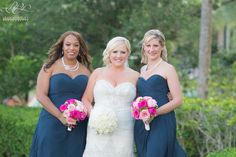 Omni Orlando Resort at ChampionsGate Wedding, Leah Langley Photography, Fuchsia and Navy Wedding Ideas, White Floral, Pink Floral, Floral by Lee James Floral Designs