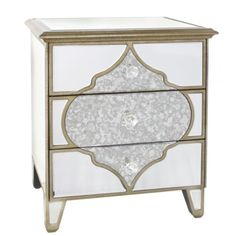 Marrakech Mirror 3 Drawer Bedside or Side Table – Allissias Attic & Vintage French Style