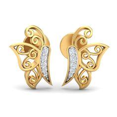 034181b4d Butterfly Earrings, Butterfly Pendant, Buy Earrings, Gold Earrings, Gold  Studs, Baby