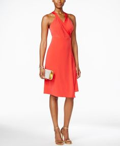 c2880be46d70d BCBGeneration Sleeveless Faux-Wrap Dress - Brought to you by Avarsha.com Faux  Wrap