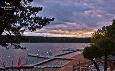 Plaża Miejska nad Jeziorem Durowskim. #wagrowiec #wielkopolska #polska #poland #jeziorodurowskie #lake #plaza  #wągrowiec #sunset