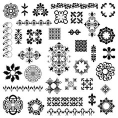 Embellishment Photoshop Brushes Design Elements от PinkPueblo