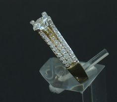 Size 7 Jewel Tie Solid 14k Yellow Gold 15 Years Birthday Heart Quince Anos Ring