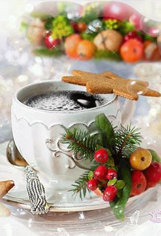 Merry Christmas & Happy New Year ! Coffee Gif, Coffee Images, Coffee Love, Good Morning Coffee, Good Morning Gif, Good Morning Greetings, Good Morning Christmas, Merry Christmas And Happy New Year, Christmas Time