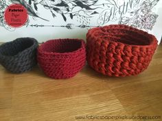 Paniers en crochet Creative Activities, Secret Santa, Fabrics, About Me Blog, Basket, Kids, Baskets, Tejidos