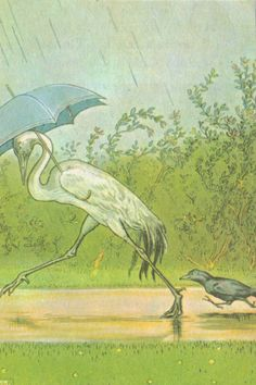 Singing in the Rain. Vintage Children's Book by GraceArchives