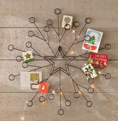Display your holiday cards with a wall card holder. #holidays
